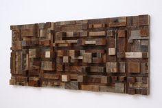 Holzklötze urbane landschaft aus wiederverwertetem Holz
