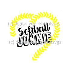 Softball Junkie svg