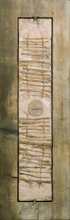 "Stefano Maraner ""Wakan"" mixed media/wood/rope on table 1997"