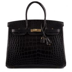 Hermes Black Matte Alligator Birkin 35cm Gold Hardware – Madison Avenue  Couture  Designerhandbags 169b8a5dd215b