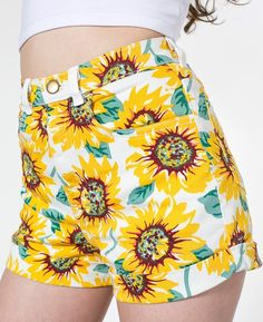 American Apparel Sunflower high wasted shorts. Get in my closet!!!