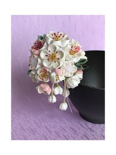Miscellaneous Goods, Fabric Flowers, Beaded Jewelry, Diy And Crafts, Floral, Cute, Accessories, Cloth Flowers, Pearl Jewelry