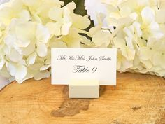Ivory Wood square place card holder