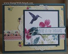 Wildflower Meadow Thoughts of You by - Cards and Paper Crafts at Splitcoaststampers Wild Flower Meadow, Wild Flowers, Birthday Cards For Women, Thoughts Of You, Bird Cards, Scrapbook Cards, Scrapbooking, Card Sketches, Card Templates