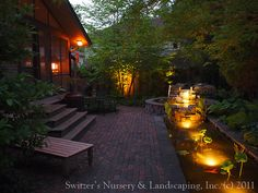Minnesota Landscape Design inspired by Bali ~ Natural Stone Water Feature / Koi Pond / Water Garden Night Lighting by Switzer's Nursery & Landscaping, via Flickr