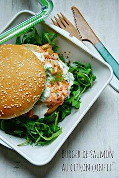 `Burger de saumon au citron confit... Very easy Kitchen
