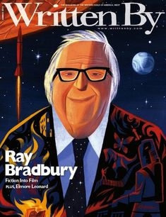 RIP, Ray Bradbury. Portrait painted by The Incredibles production designer Lou Romano.
