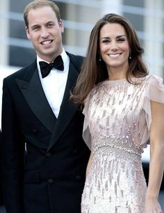 Kate and Will, kate is really formal, while will for james bondish, with that bow