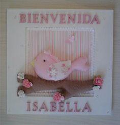 Cartel Cuadro De Bienvenida Nacimiento Maternidad Con Nombre - $ 350,00 en Mercado Libre