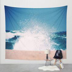 Ocean tapestry tapestry wall hanging ocean by SophieMakesFabrics