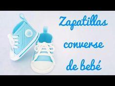 Tutorial - Cómo hacer zapatillas converse de bebé con fondant   Mi tarta preferida - YouTube