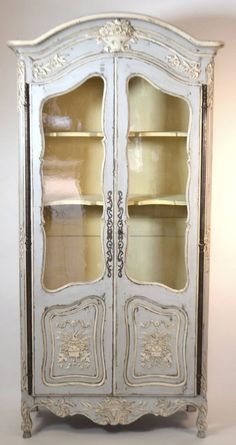 19th Century Louis XV Walnut Display Cabinet