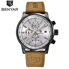 2018 Top Brand BENYAR Fashion Chronograph Sport Mens Watches Luxury Quartz Watch Reloj Hombre Clock Male hour relogio Masculino
