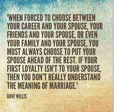 Glad I found this. Some people don't understand this but at least my husband and my family does. Jacob and I put each other first before anything!