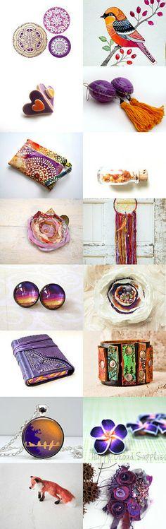 .P U R P L E  and  O R A N G E. by Agnieszka on Etsy--Pinned with TreasuryPin.com