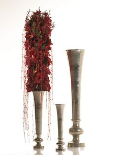 Metal Vases Colored Vases, Metal Vase, Candles, Silver, Home Decor, Candy, Interior Design, Home Interior Design, Candle