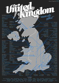 Music Map of the UK