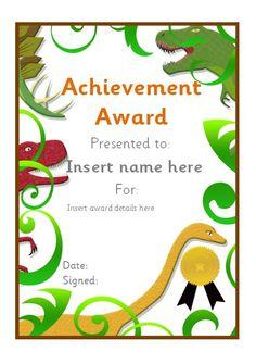 Editable dinosaur themed certificate. #teachingresources
