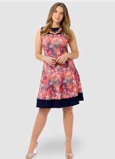 Rose Peacock Fit & Flare Dress. Gwynniebee.com
