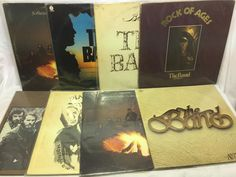 The Band + Bob Dylan LP Vinyl Record Lot the Best of,  Rock Ages, Planet Waves +