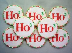 Ho3.  LOL. Get it?  That's a geeky Christmas cookie and I love it!