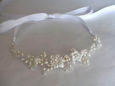 Bridal hair accessories. Bridal headband.  Wedding hair piece