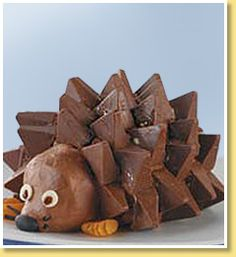 "Hedgehog ""Cake"" using Toblerone bars"