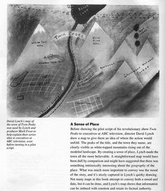MAP OF TWIN PEAKS BY DAVID LYNCH by Austin Kleon, via Flickr