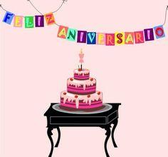 Lindos Mensagens de Aniversário com Bolos - ツ Imagens, Animações e Mensagens de Feliz Aniversário ツ