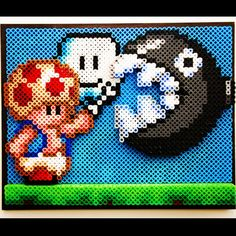 Mario Bros. perler beads by at0msk