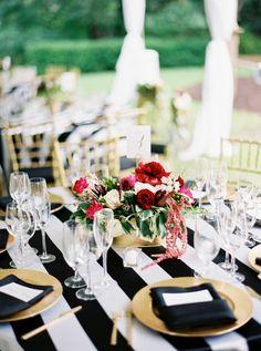 #linens, #stripes, #tablecloth  Photography: Jen Dillender Photography - jendillenderphotography.com Venue: The Contemporary Austin Laguna Gloria - www.thecontemporaryaustin.org/