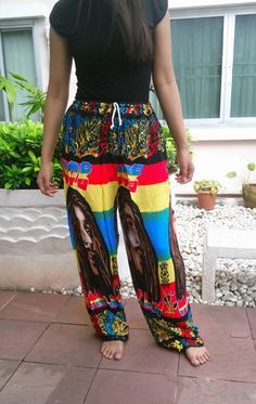 New Bob Marley Unisex Reggae Rasta Yoga Pants Harem by ScarfByMe, $9.99