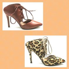 Low back, half lace pointed toe pumps. Available soon in bronze and cheetah!  #shoehaul #shoehaulonline #pointedtoe #bronze #cheetah #heels #laceup #instaheels #instashoes