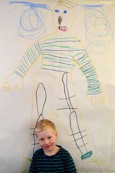 Easy Art for Kids - Drawing Myself Easy Art For Kids, Games For Kids, Cool Kids, Toddler Crafts, Crafts For Kids, Arts And Crafts, Learning Activities, Activities For Kids, Interactive Learning