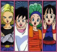 The beautiful women of dragon ball♡ #Goku x Chichi #Vegeta x Bulma #Gohan x Videl #krillin x 18