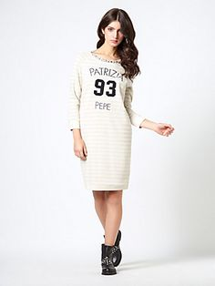 Short felt dress, with jewel detailing PP