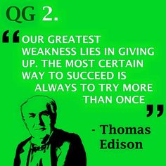 Perseverance is key   #quote #thomasedison