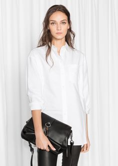 Other Stories image 2 of Oversized Shirt in White