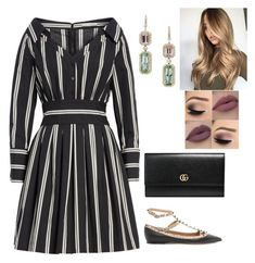 """""""Untitled #752"""" by lovelifesdreams on Polyvore featuring Alice + Olivia, Valentino and Gucci"""