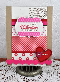 Dawn McVey (red/pink/brown = Dawn, doesn't it?!) Such a fun card. Love the mix of patterns.