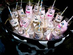 Cute milk bottles