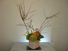 Japanese flower arrangement 6, Ikebana: いけばな   Flickr - Photo Sharing!