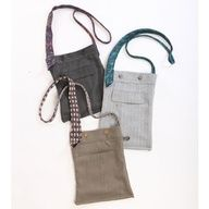Suit clutches - reused suit pants and neckties