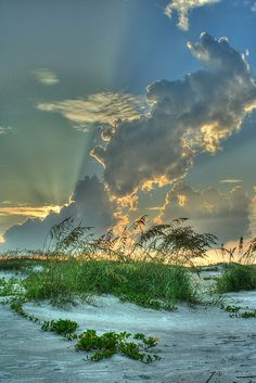 Sunset at Anastasia State Park in St. Augustine, Florida