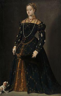 Vecellio 1548-49 Bildnis der Erzherzogin Katharina von Österreich