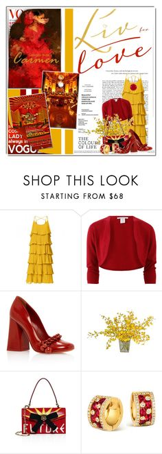 """""""Live for Love......"""" by queenrachietemplateaddict ❤ liked on Polyvore featuring Oscar de la Renta, The French Bee, Gucci and Les Néréides"""
