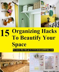 15 Organizing Hacks To Beautify Your Space Healthy Diet Recipes, Healthy Eating, Organization Hacks, Organizing, Life Hacks, Life Tips, Organize Your Life, Your Space, Improve Yourself