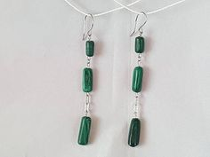 Beautiful Pair of Recycled Vintage Malachite & Victorian