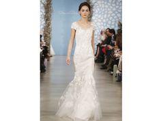 Vestido de novia de Oscar dela Renta 2014  con bordados