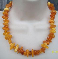 Vintage Butterscotch Amber Necklace 60 grams by LynnHislopJewels